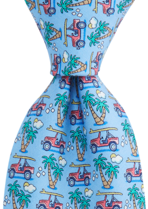 Vineyard Vines Truck & Palm Tie - Ocean Breeze