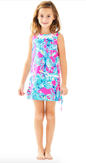Lilly Pulitzer Girls Little Lilly Classic Shift - Lobsters In Love