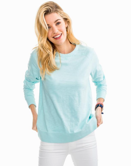 Southern Tide Waterfront Crew - Pool Blue