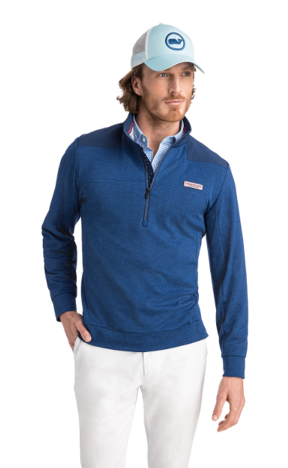 Vineyard Vines Performance Mesh Shep Shirt - Deep Bay