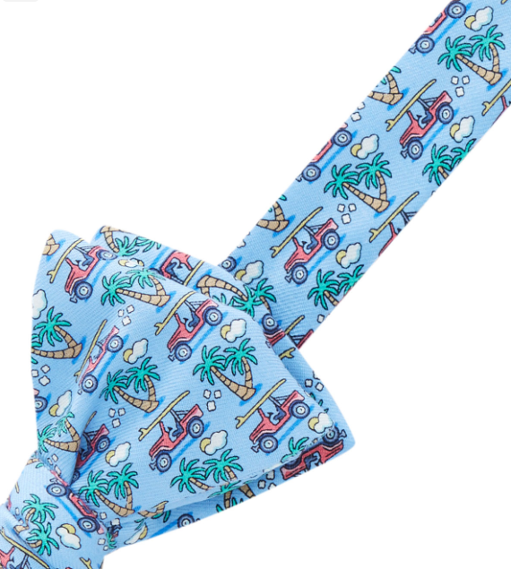 Vineyard Vines Trunk & Palm Bow Tie - Ocean Breeze