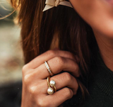 Kiel James Patrick Scalloped Ring - Pearl