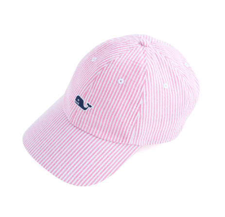 Vineyard Vines Washed Seersucker Baseball Hat - Flamingo  80db7c47f328