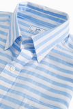 Southern Tide Toe Side Stripe Short Sleeve Sport Shirt - Ocean Channel