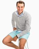 Southern Tide Heathered Gulf Stream Lightweight Pullover - Light Grey