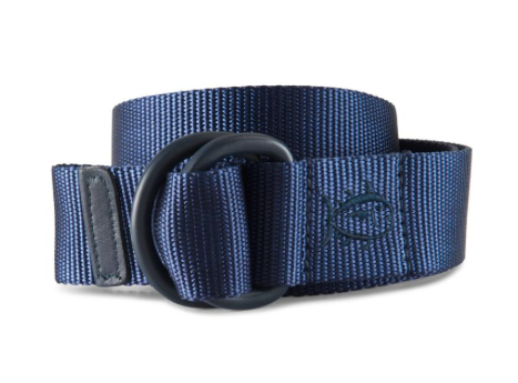 Southern Tide Nylon D-Ring Belt - Seven Seas Blue