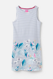 Joules Riva Print Sleeveless Jersey Dress - Palm Stripe
