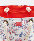 Joules Summer Beach Bag - White Indienne Floral