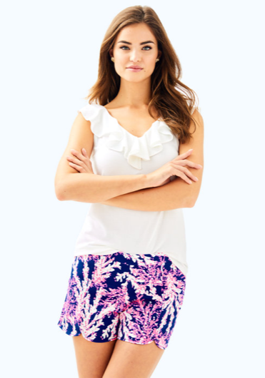 "Lilly Pulitzer 5"" Hazelle Stretch Short - Beyond The Sea"