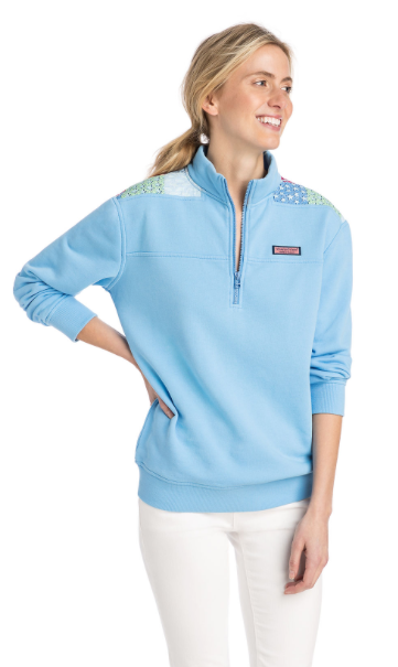 Vineyard Vines 20th Anniversary Original Patchwork Shoulder Classic Shep Shirt - Ocean Breeze