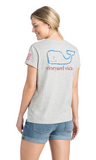 Vineyard Vines USA Vintage Whale Tee - Gray Heather