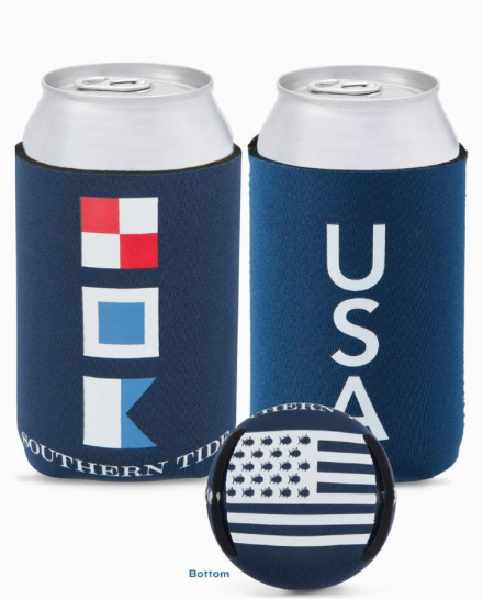 Southern Tide USA Magnetic Can Caddie - Yacht Blue