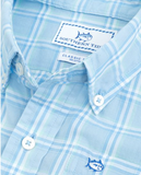 Southern Tide Boys Roadstead Plaid Sport Shirt - Sky Blue