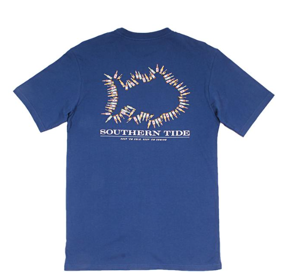 Southern Tide Keep 'Em Cold T-Shirt - Yacht Blue