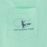 Southern Tide Mens Fly Fishing T-Shirt - Offshore Green
