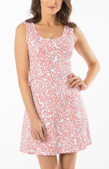 Mahi Gold Perfect Tank Dress - Calypso Coral