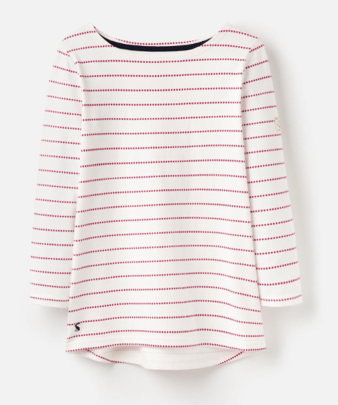 Joules Harbour Jersey Top - Ruby Pink Spot
