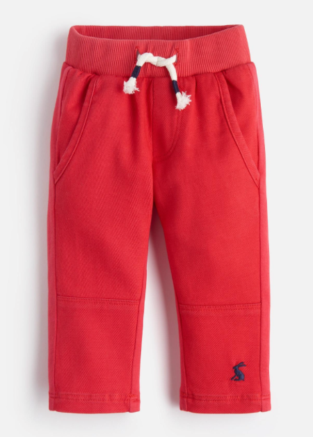 Joules Caro Woven/Jersey Mix Pants - Red