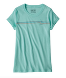 Patagonia Girls' Graphic Organic Cotton T-Shirt - Bend Blue
