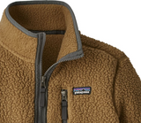 Patagonia Boys' Retro Pile Fleece 1/4-Zip - Coriander Brown