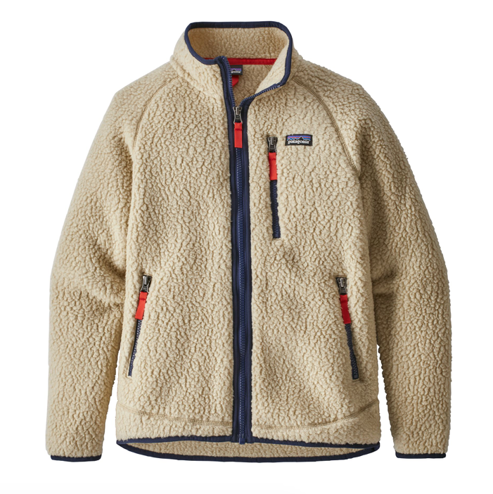 Patagonia Boys' Retro Pile Fleece Jacket - El Cap Khaki