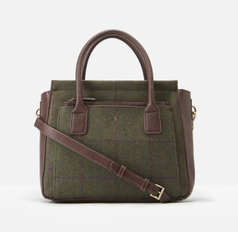Joules Day To Day Tweed Purse - Green Check