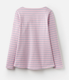 Joules Harbour Jersey Top - Dusk Pink Stripe