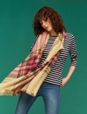Joules Berkley Woven Longline Scarf - Natural Check