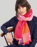 Joules Berkley Woven Longline Scarf - Bright Check