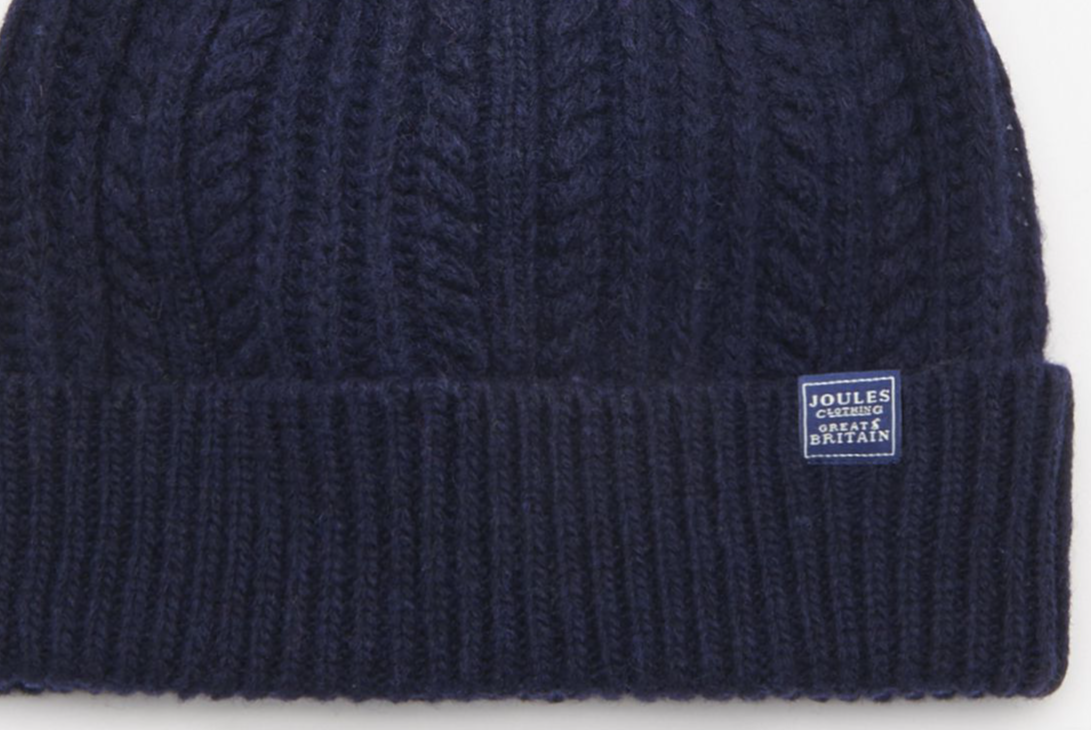 090a6be8d Joules Bobble Cable Knit Hat - French Navy
