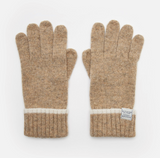 Joules Huddle Longlength Knitted Gloves - Oatmeal