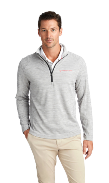 Vineyard Vines Sankaty Performance 1/2-Zip - Gray Heather