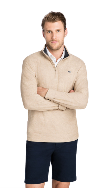 Vineyard Vines Saltwater 1/4-Zip - Harvest Tan