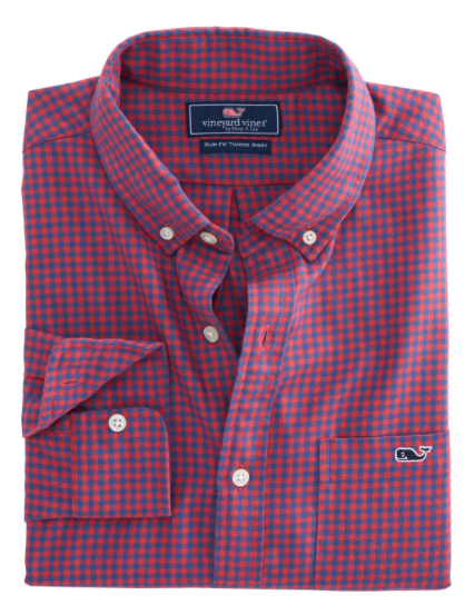 Vineyard Vines Tradewinds Flannel Slim Tucker Shirt - Sailors Red