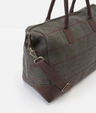Joules Paddington Tweed Holdall - Green Check