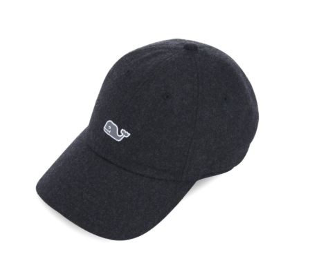 Vineyard Vines Women's Wool Whale Logo Baseball Hat - Jet Black