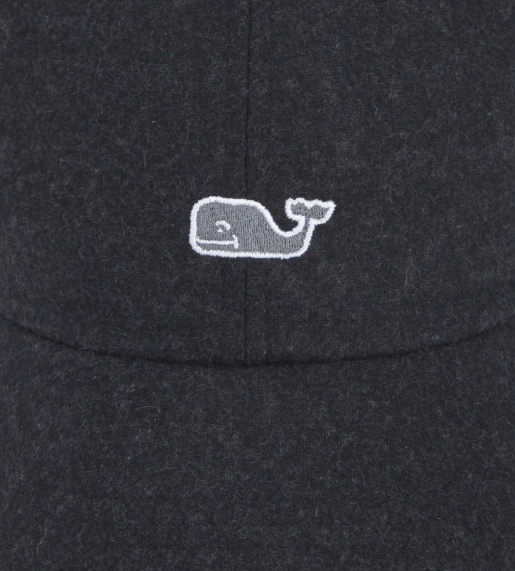 d0a2ee40f2516 Vineyard Vines Women s Wool Whale Logo Baseball Hat - Jet Black ...