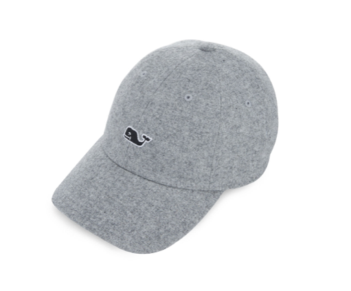 Vineyard Vines Women's Wool Whale Logo Baseball Hat - Sharkskin