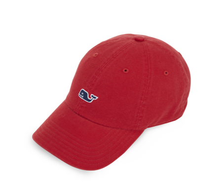 Vineyard Vines Garment Dyed Logo Baseball Hat - Red Velvet