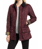 Barbour Beadnell Polarquilt Jacket - Aubergine/Black