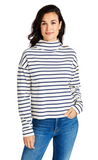 Vineyard Vines Mock Neck Pullover - Frost