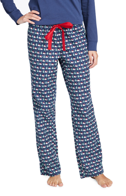 Vineyard Vines Women's Santa Whale & Tree Lounge Pants - Deep Bay