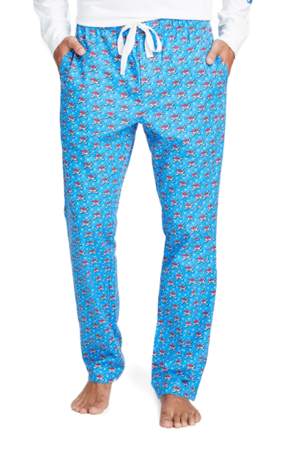 Vineyard Vines Hockey Whale Lounge Pants - Hull Blue