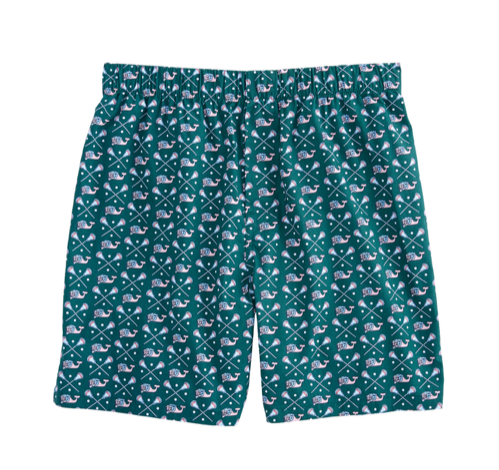 Vineyard Vines Lacrosse Whale Boxers - Charleston Green