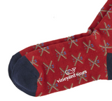 Vineyard Vines Men's Crossed Skis Icon Socks - Calypso Red