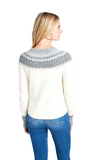 Vineyard Vines Tonal Fair Isle Crewneck Sweater - Frost