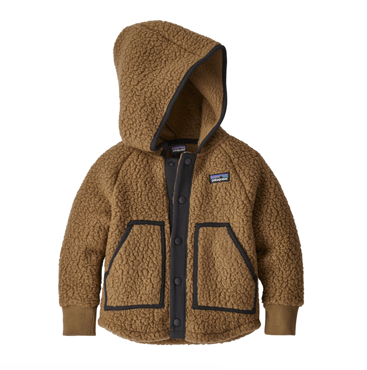 Patagonia Baby Retro Pile Fleece Jacket - Coriander Brown
