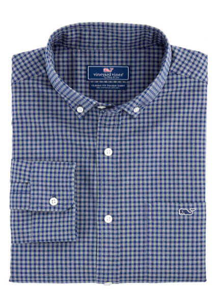 Vineyard Vines Pin Oak Classic Tucker Shirt - Evening Sky
