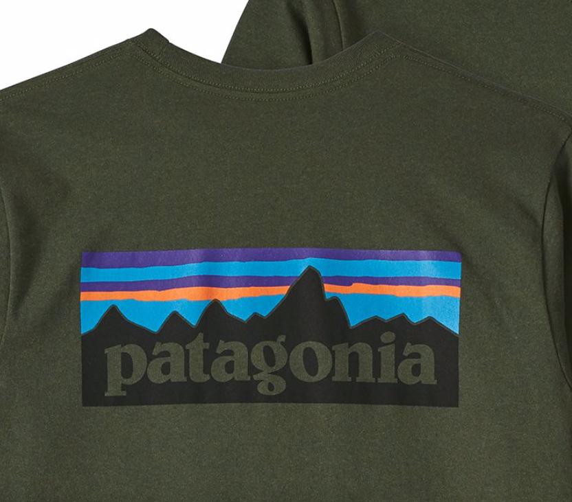 a7841f71a Patagonia Men s Long-Sleeved P-6 Logo Responsibili-Tee® - Nomad Green