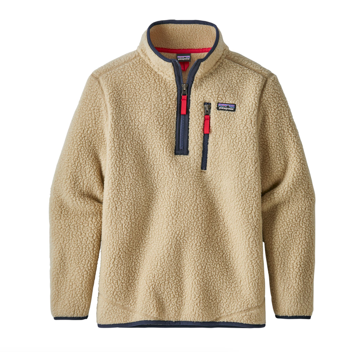 Patagonia Boys' Retro Pile Fleece 1/4-Zip - El Cap Khaki